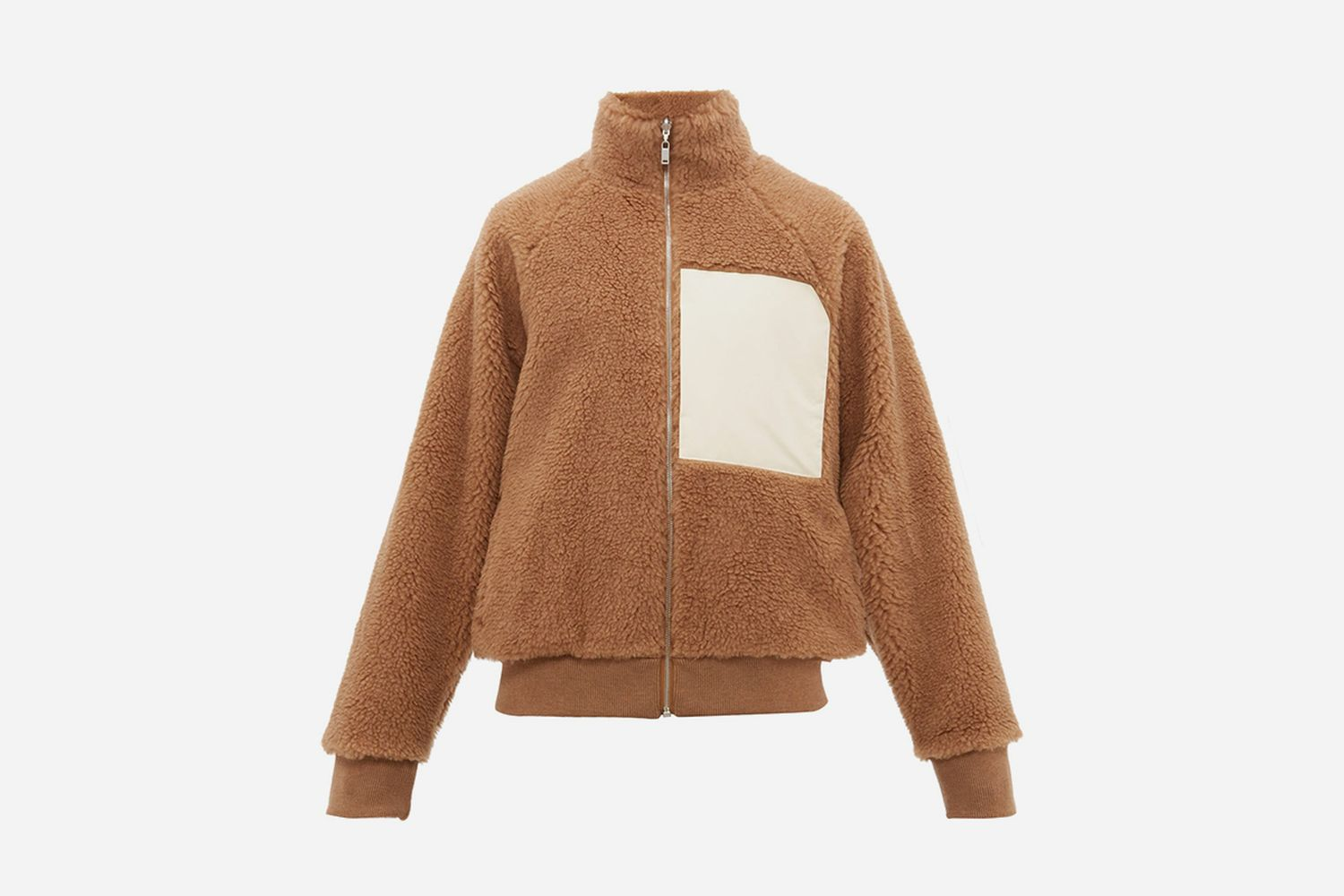 Chest Patch Reversible Shearling Jacket