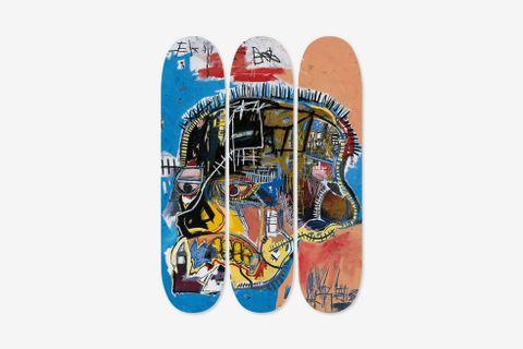 Skateboard Triptych Skull