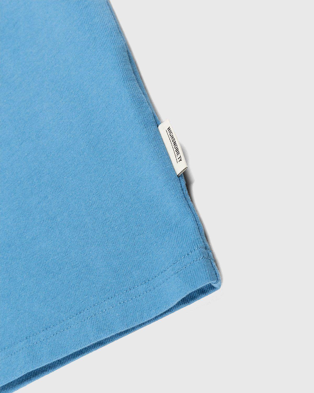 Highsnobiety – Logo T-Shirt Blue - Image 4