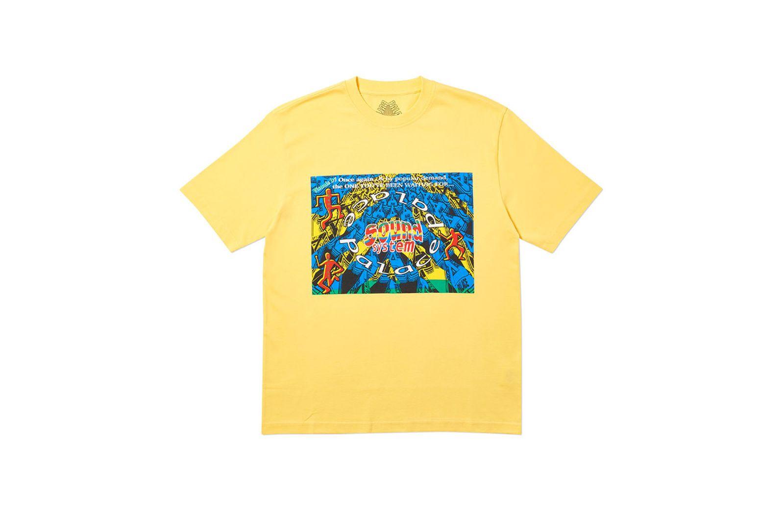 Palace 2019 Autumn T Shirt Sound Mate yellow