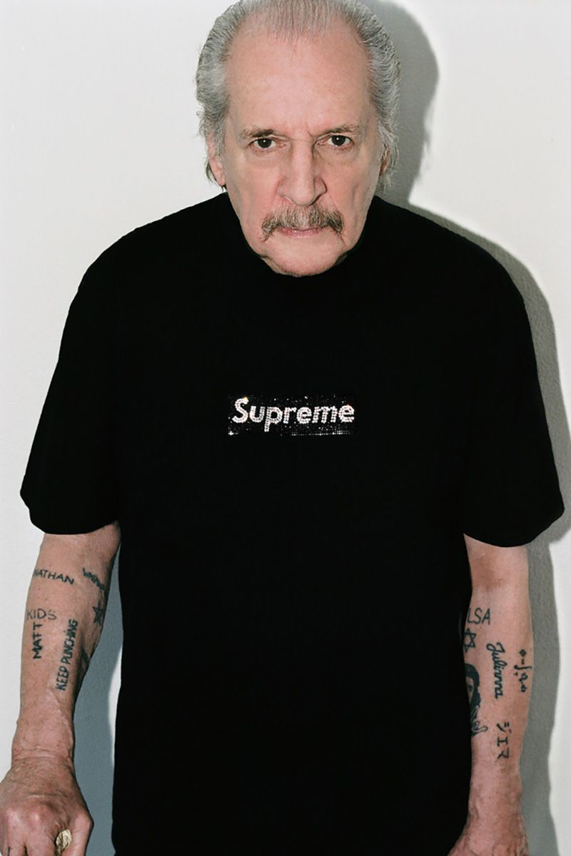 Larry Clark Models Supreme's 25th Anniversary Swarovski Box Logo Capsule