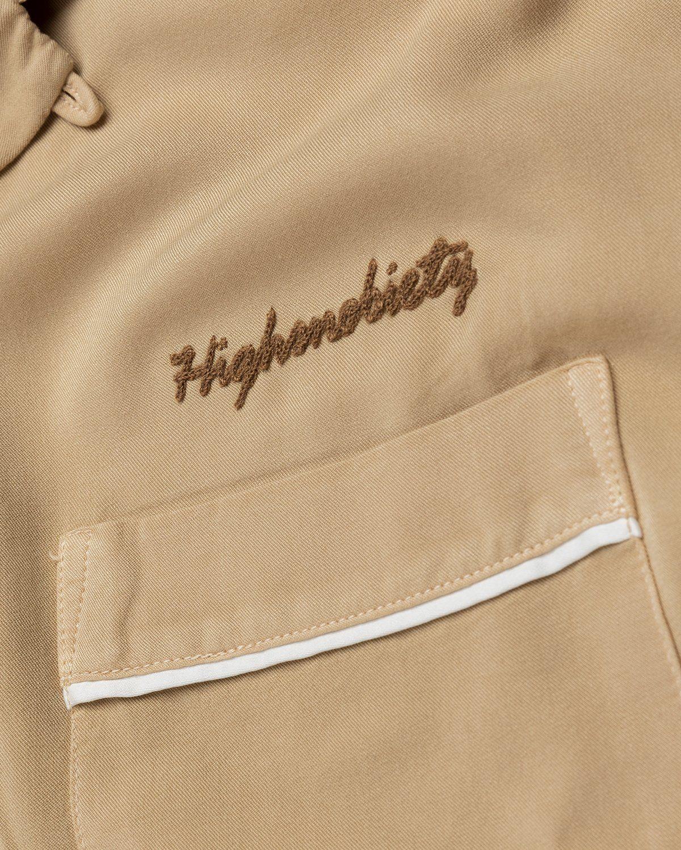 Highsnobiety – Bowling Shirt Beige - Image 4