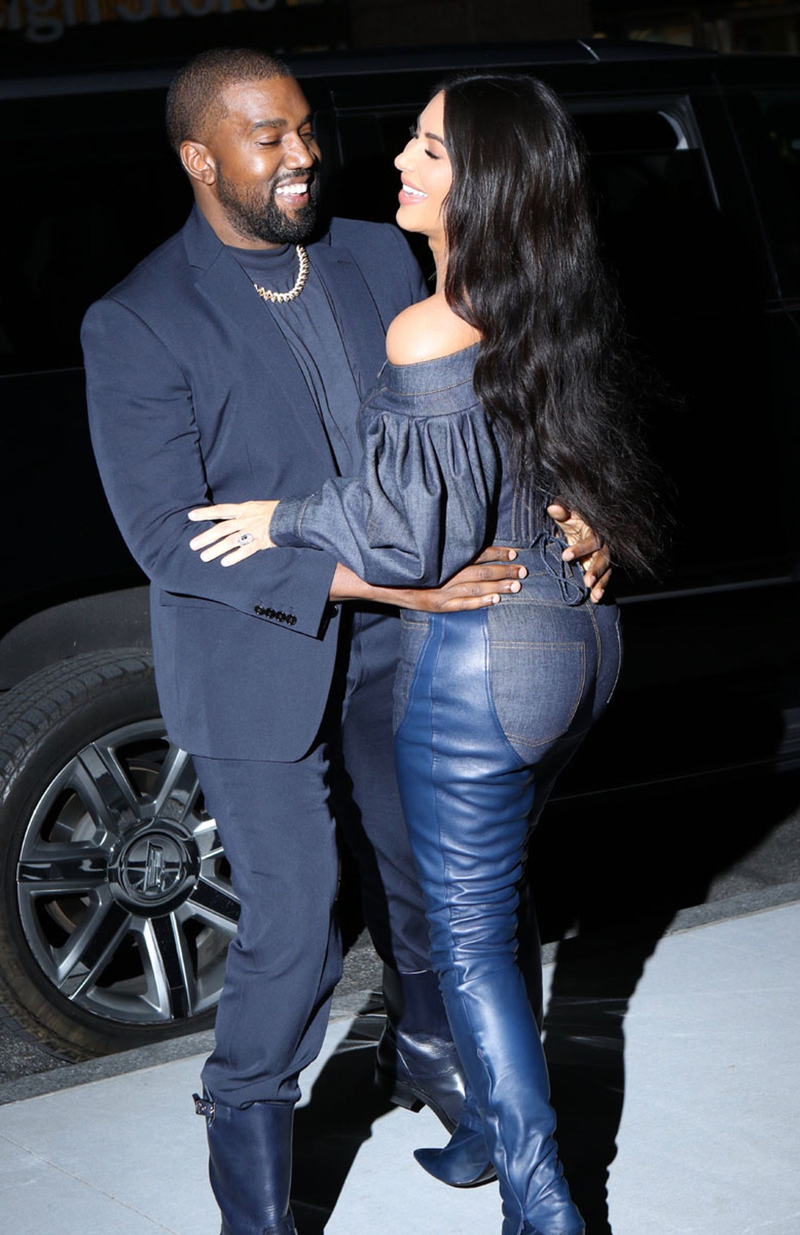 Kanye West Navy Suit