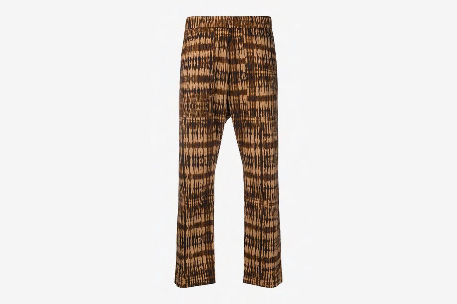Cropped Abstract Print Trousers