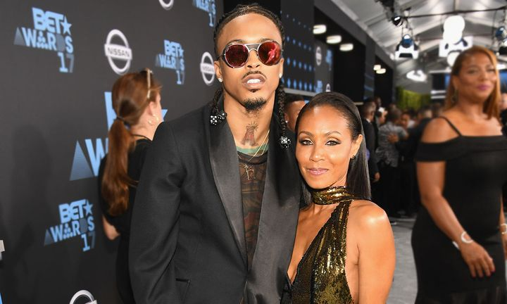 August Alsina (L) and Jada Pinkett Smith at the 2017 BET Awards