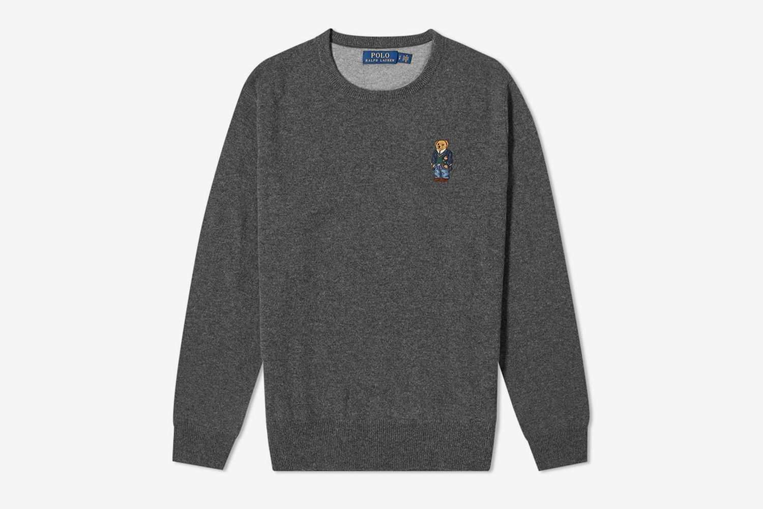 Small Embroidered Bear Crew Knit