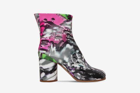 Tabi Lamingo Print Leather Boots