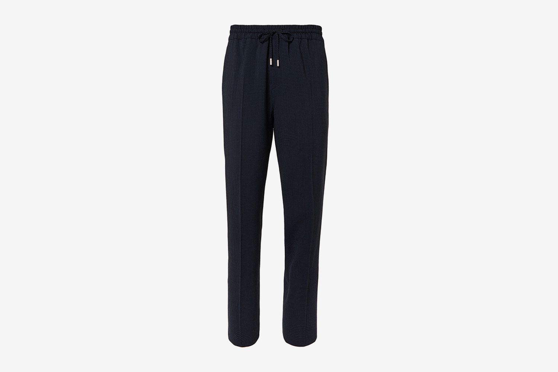 Gingham Drawstring Trousers