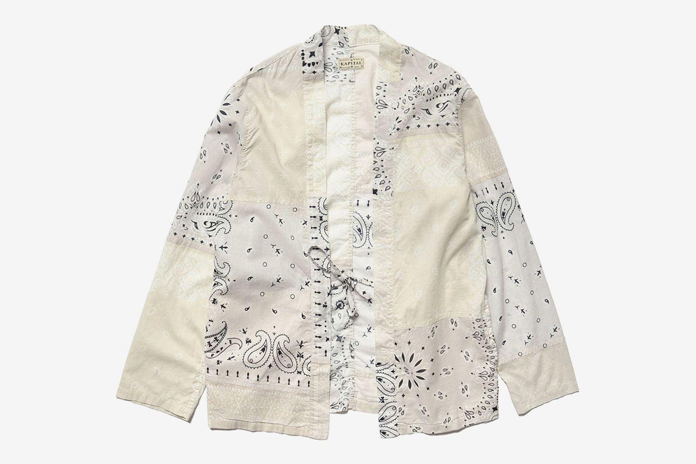 Gauze Bandana Patchwork KAKASHI Shirt