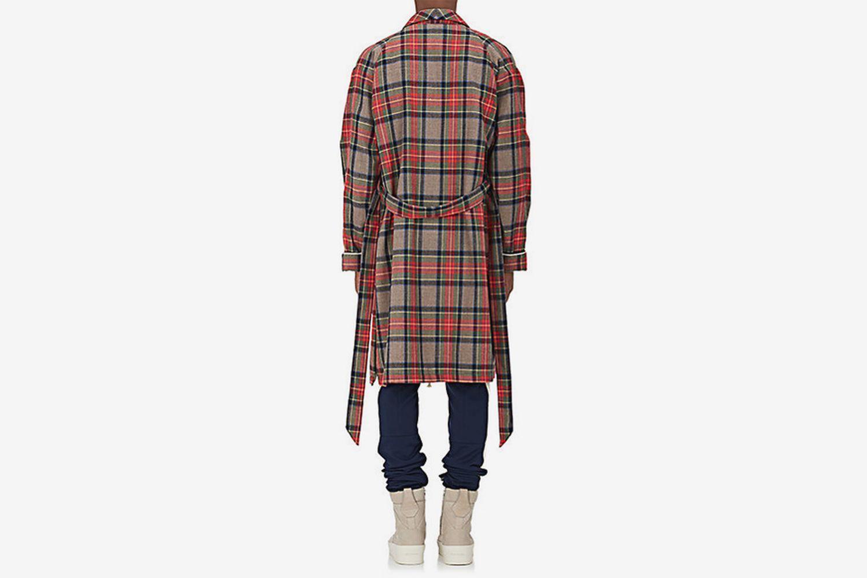 Plaid Wool Twill Robe