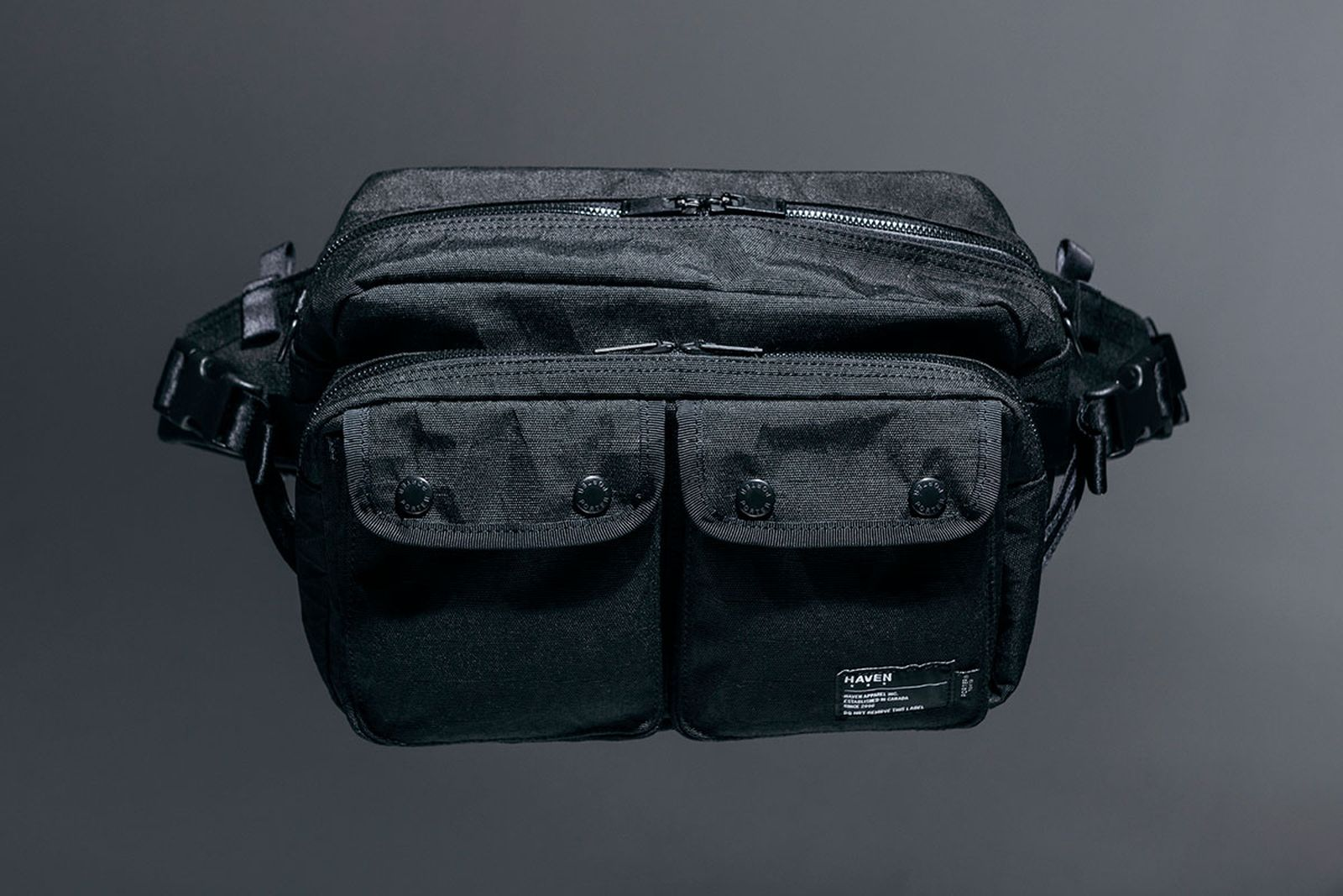 haven x porter bag on grey background