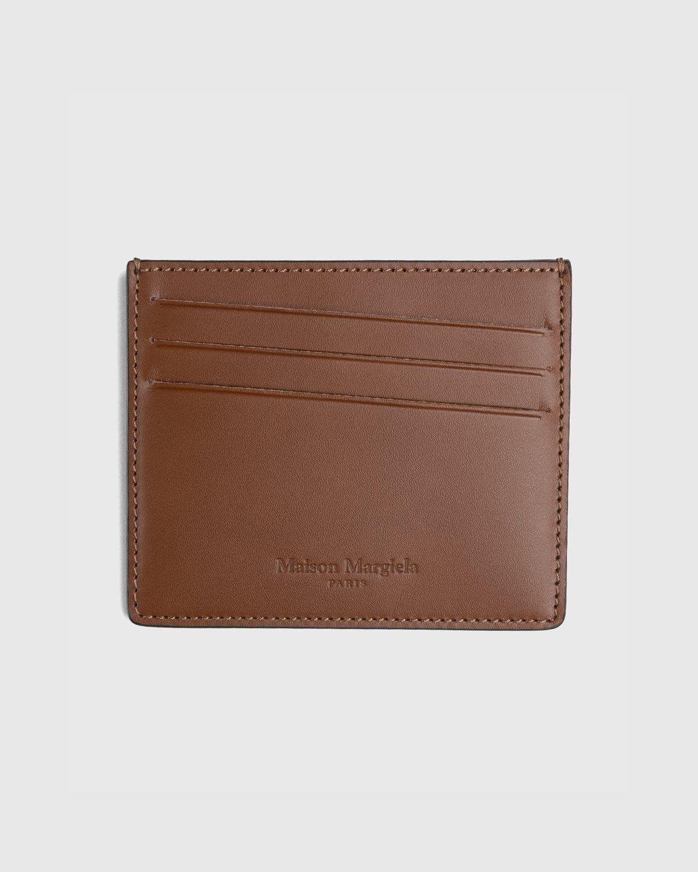 Maison Margiela – Leather Card Holder Brown - Image 1