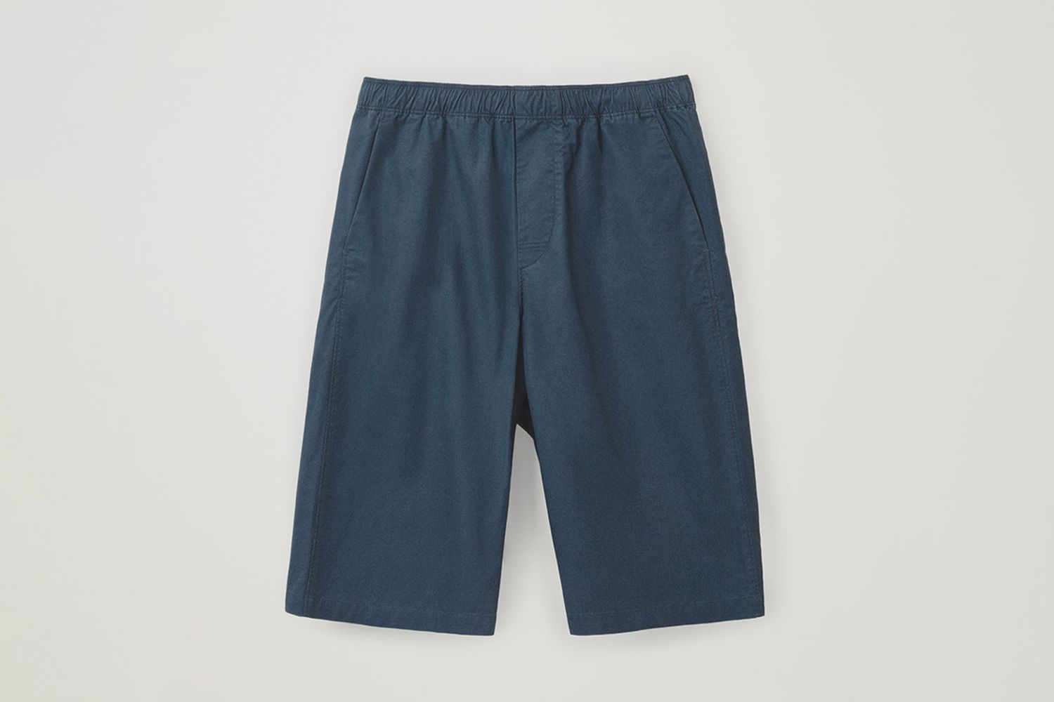 Cotton-Mix Long Shorts