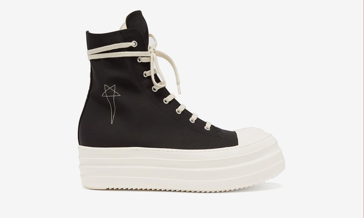 Rick Owens Double Bumper Canvas High Top Ramones: Release Info