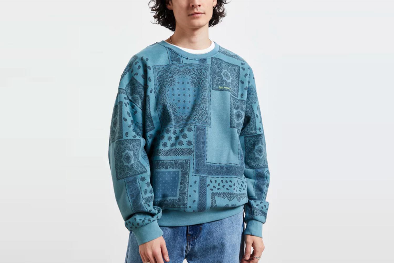 Overdyed Pattern Crew Neck Sweatshirt