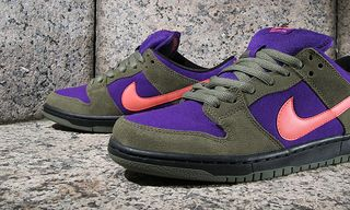 Nike SB Dunk Low Pro Olive/Atomic Red-Electric Purple