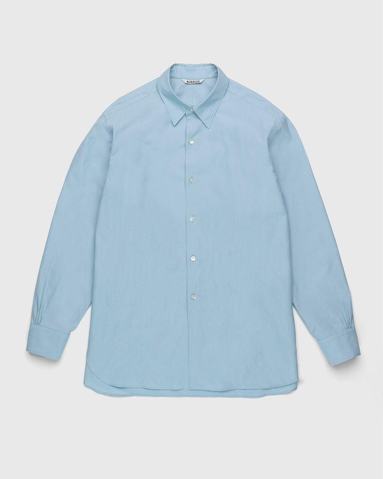 Auralee – Twill Shirt Blue