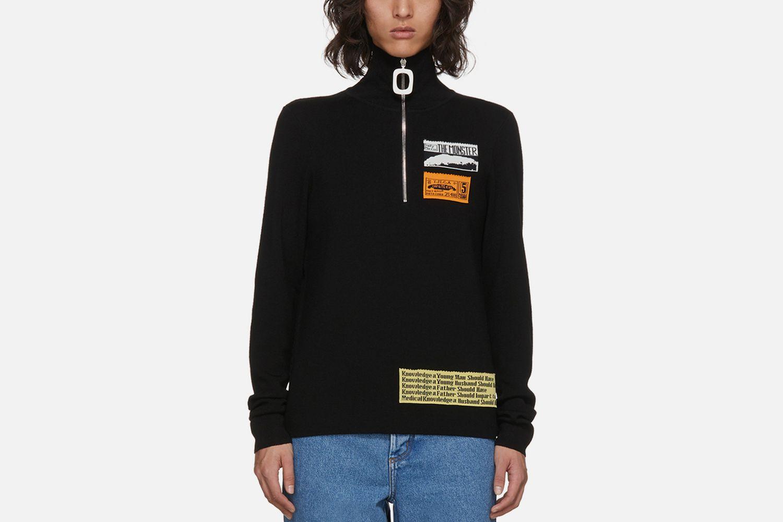 Black Bubblegum Zip Sweater