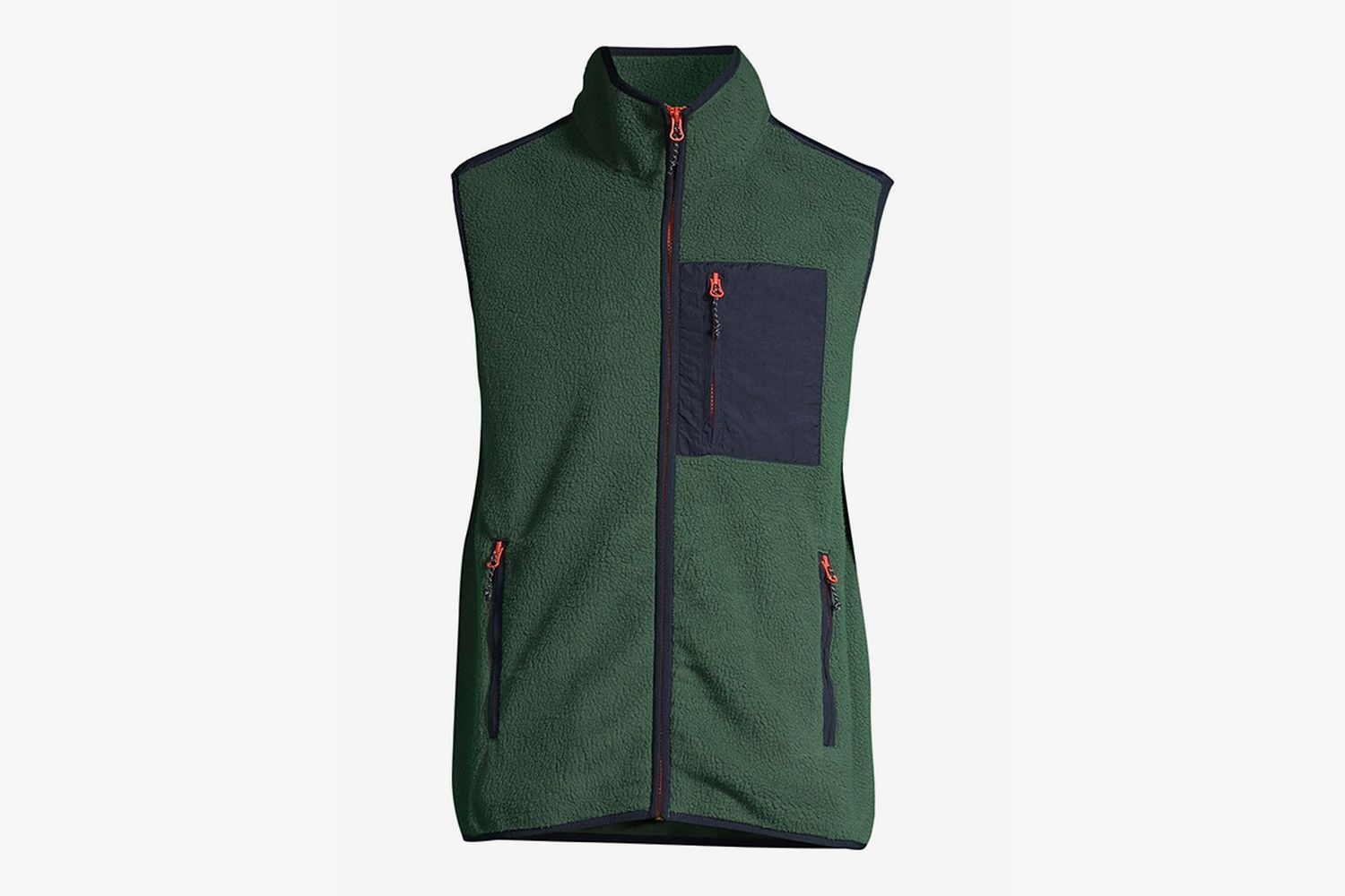 Full Zip Vest with Patch Pocket
