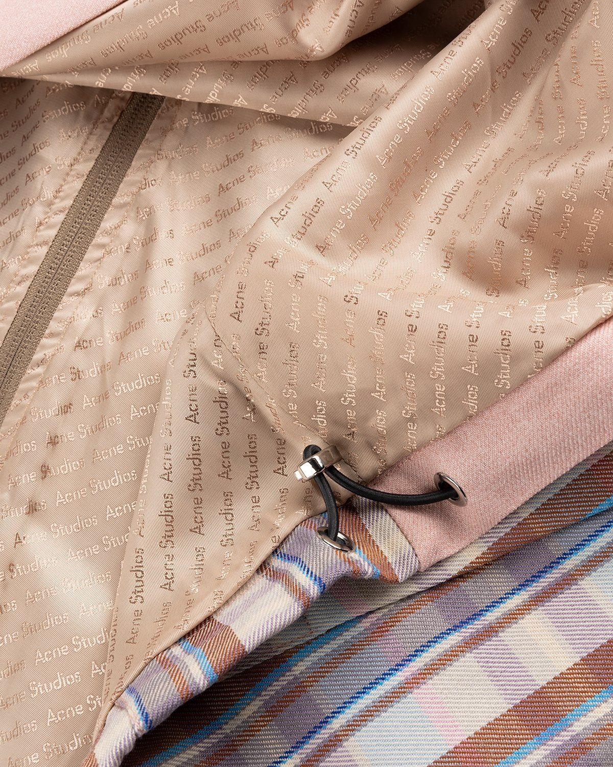 Acne Studios – Checked Twill Jacket Blossom Pink - Image 5
