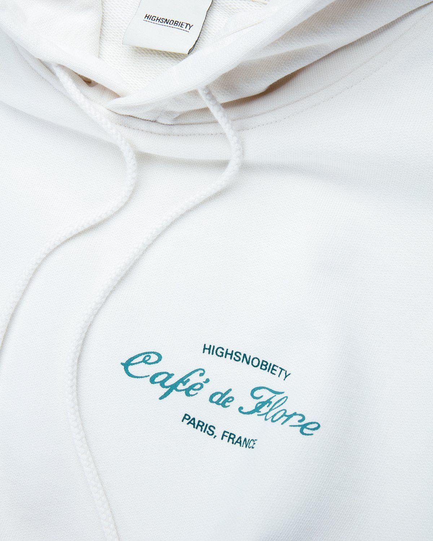 Highsnobiety — Not In Paris 3 x Cafe De Flore Hoodie Eggshell - Image 3
