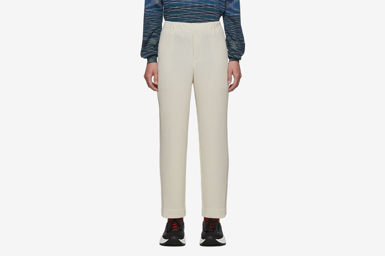 Pleats Tailored Straight Leg Trousers