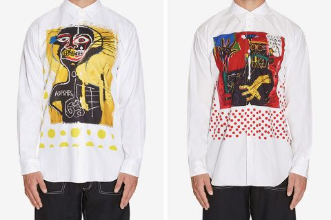 basquiat cdg main Jean-Michel Basquiat Estate comme des garcons shirt jean michel basquiat