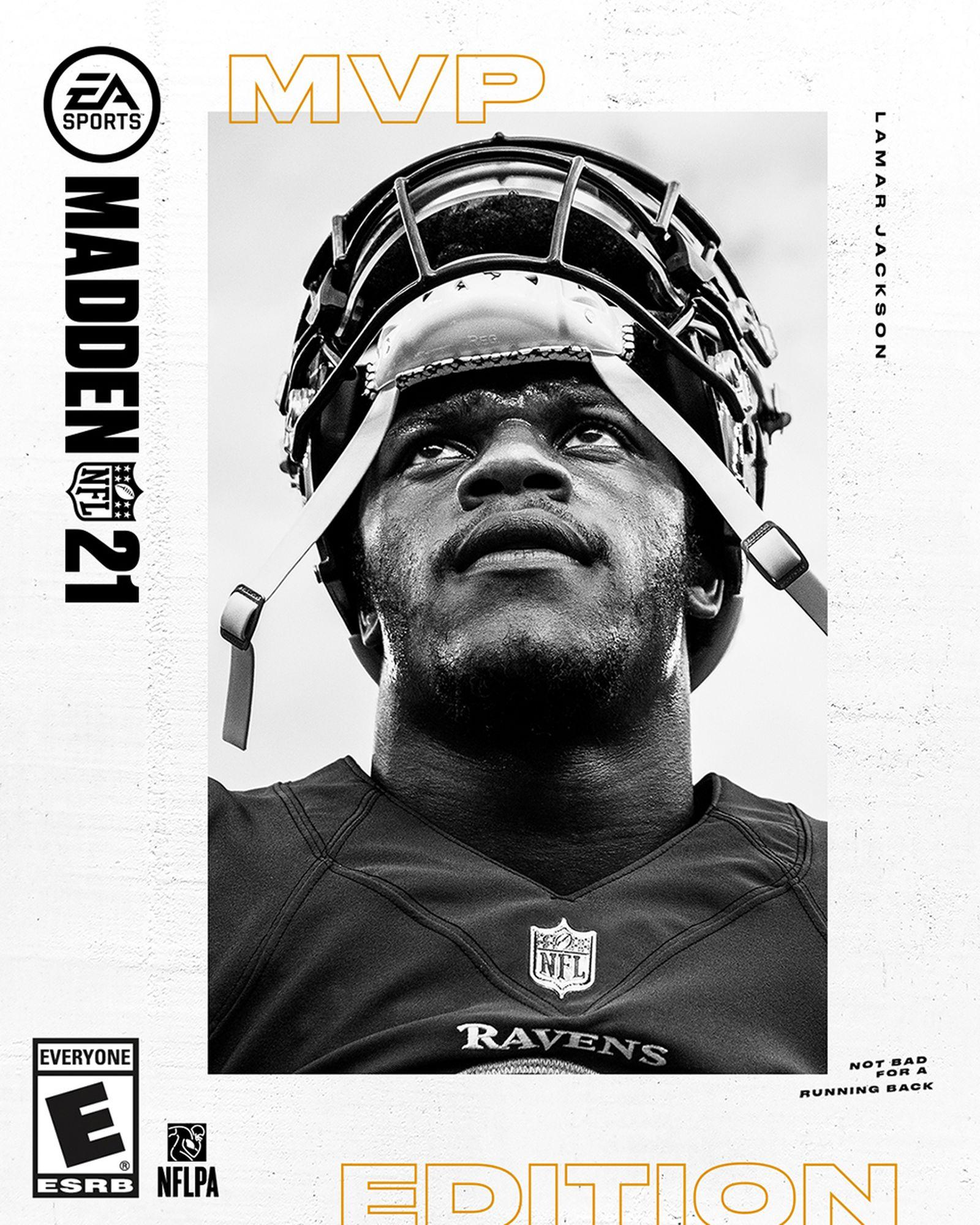 Madden NFL 21 cover Lamar Jackson