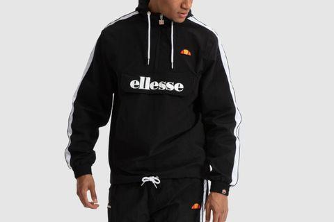 Black ellesse Mens Fighter 1//2 Zip Track Jacket