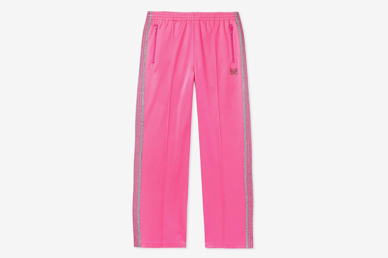 Glittered Webbing-Trimmed Track Pants