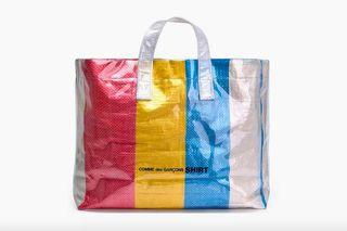 40bb65cc278f COMME des GARÇONS SHIRT's Colored Plastic Bag Is the Perfect Summer Tote