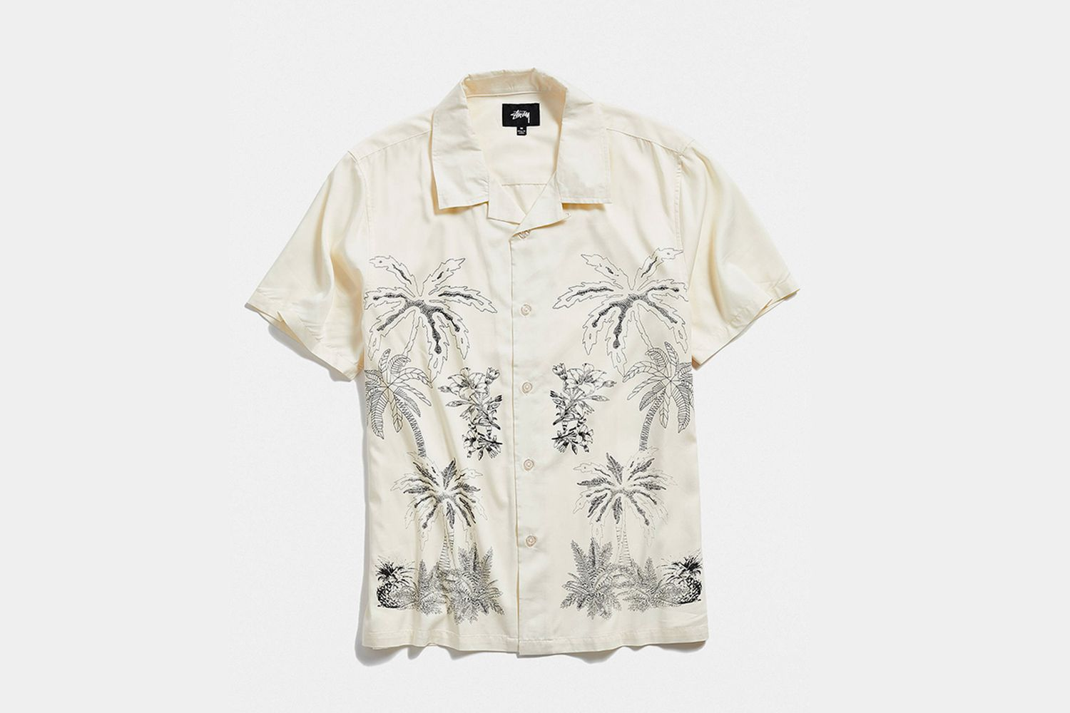Palm Tree Button-Down Shirt