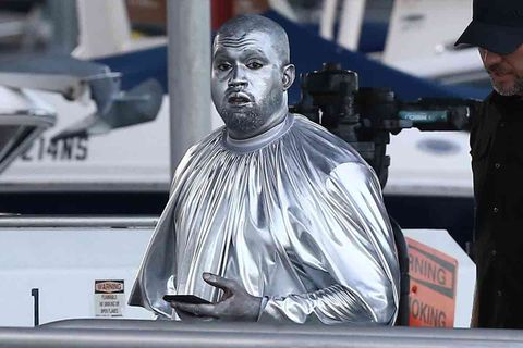 Kanye West covers entire body in silver for new opera, 'Mary'