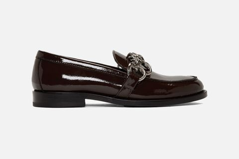Patent Patty Chain Loafers