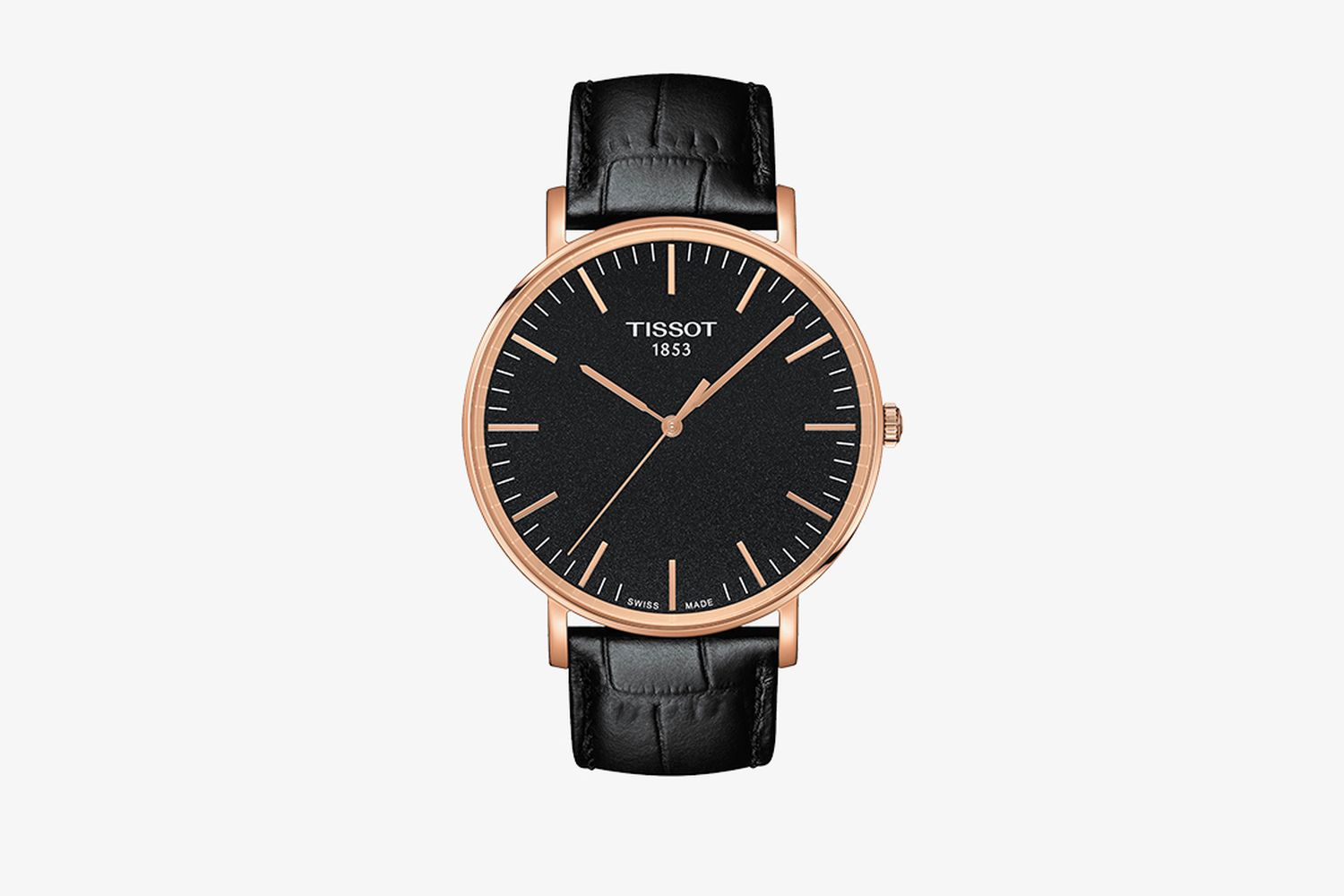 T-Classic Everytime Rose Goldtone Leather Strap Watch