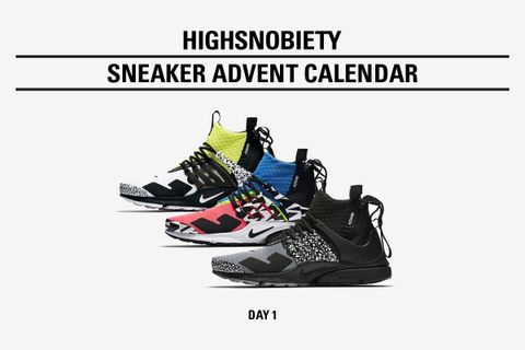 competitive price 8ea16 da817 Highsnobiety Sneaker Advent Calendar: ACRONYM x Nike Presto Pack