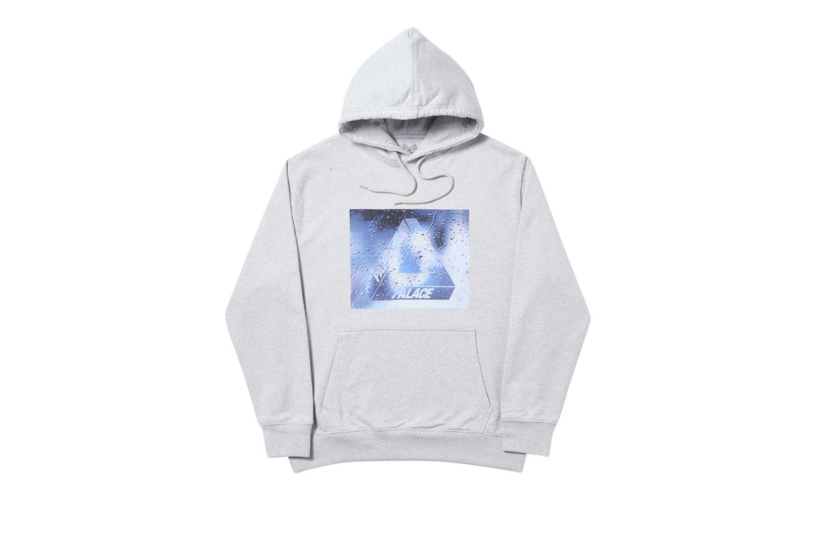 Palace 2019 Autumn Hoodie Window Licker grey marl front 14666 ADJUSTED