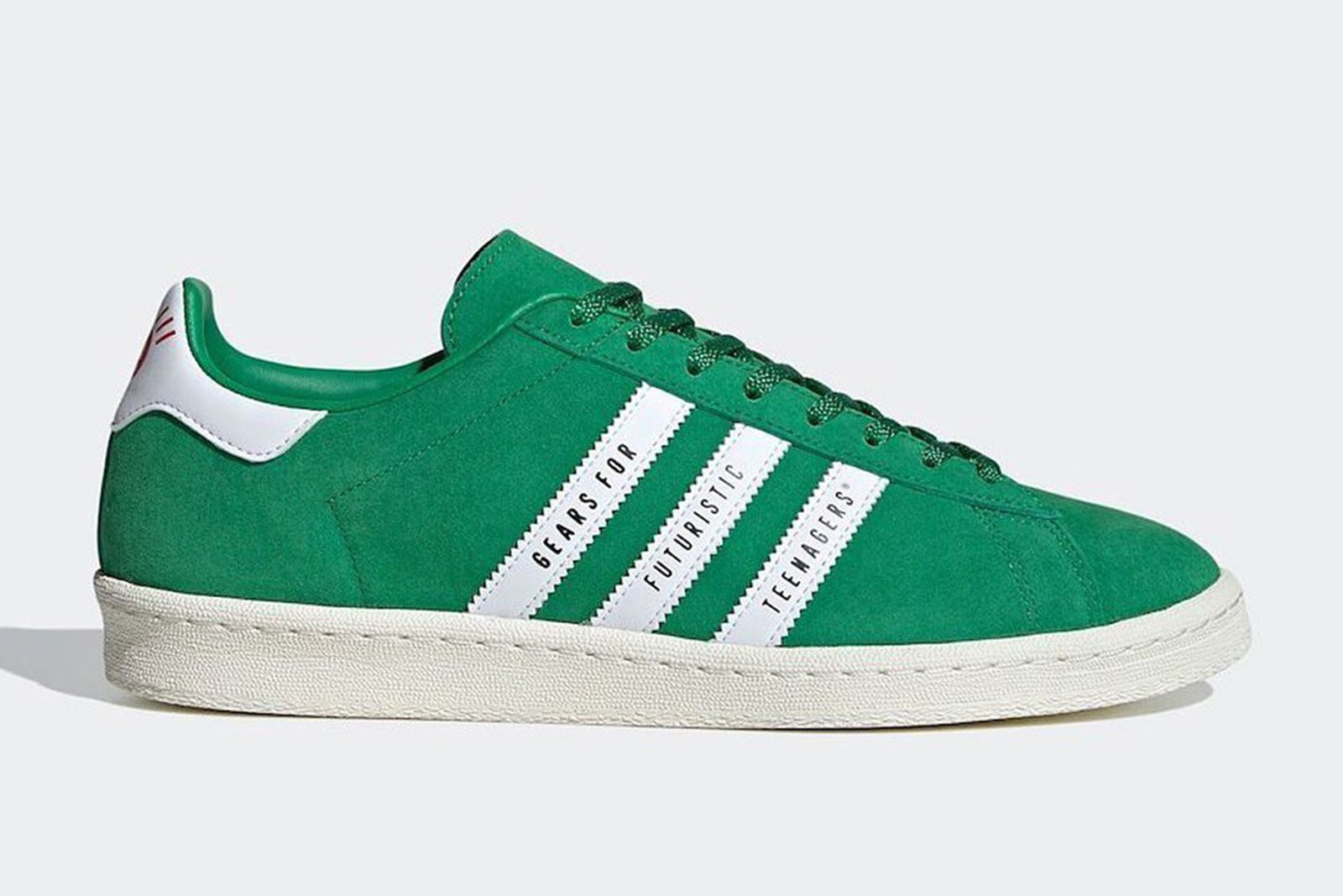 Human Made x adidas Campus in green suede