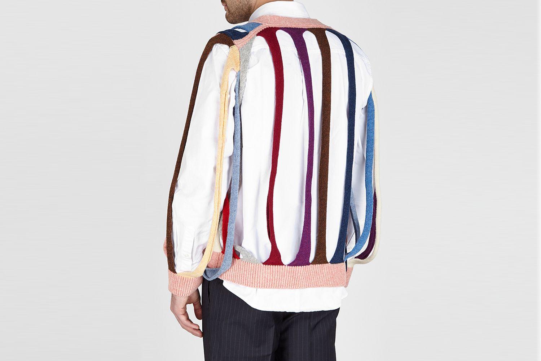 Tubular Cut-out Wool Cardigan