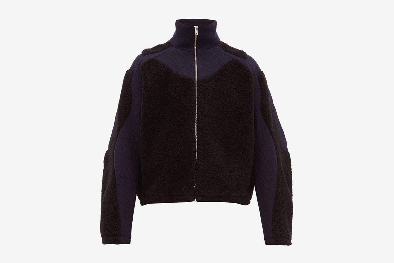 Two-tone Fleece And Pressed Wool Jacket