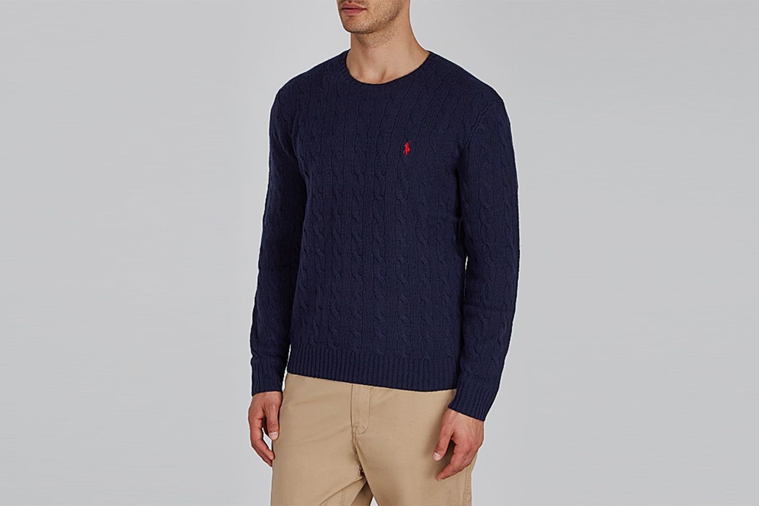 Cable-Knit Wool-Blend Jumper