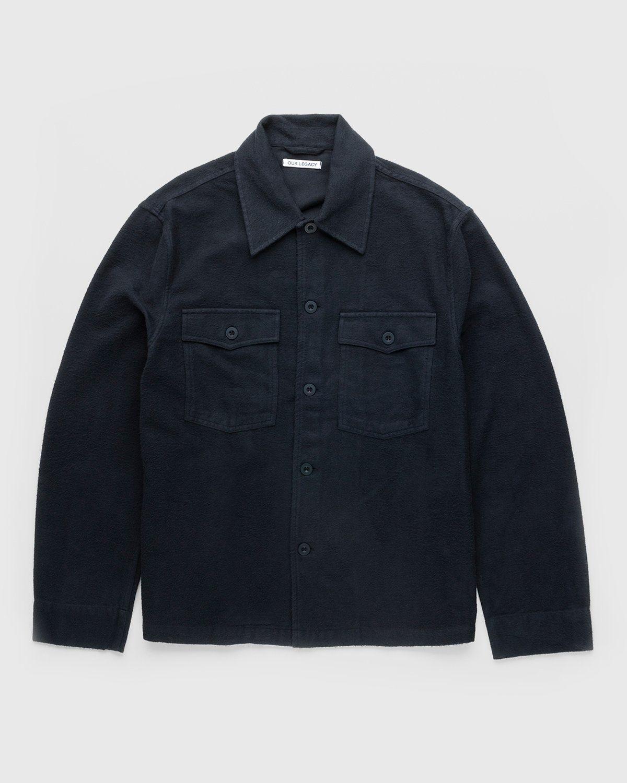 Our Legacy – Evening Coach Jacket Black Brushed - Image 1