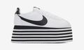 COMME des GARÇONS' Nike Cortez Platform Is Available in White & Black Colorways
