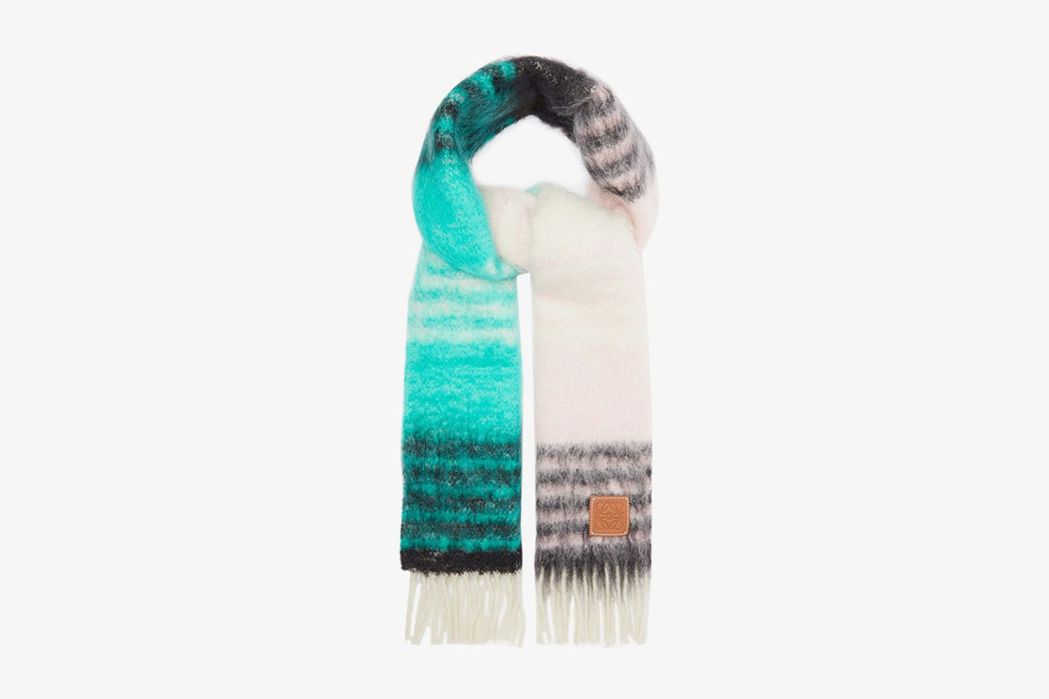 Anagram-Patch Mohair-Blend Scarf