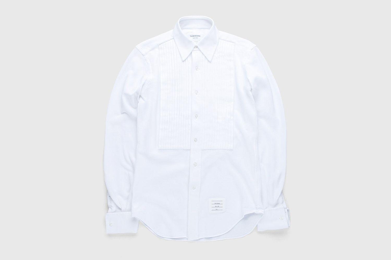 Men's Pique Ruffled-Bib Tux Shirt