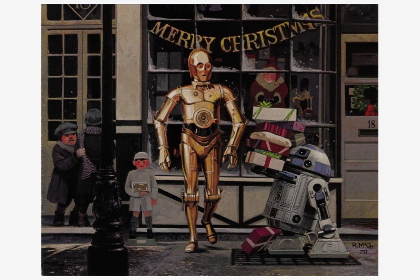 The Empire Strikes Back', EMI Elstree Studios Christmas card and envelope, 1980