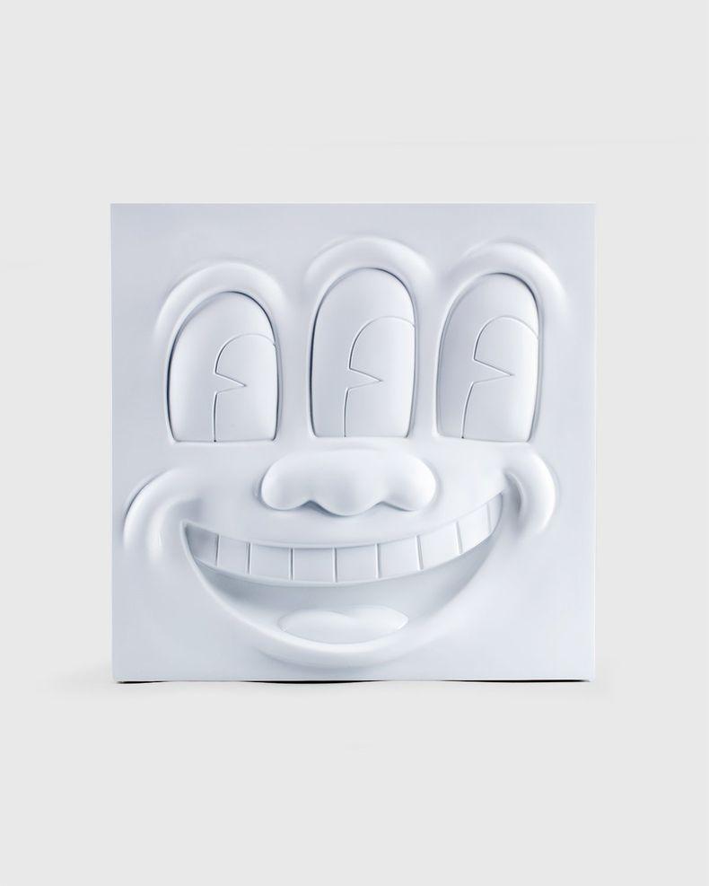 Medicom — Keith Haring Three Eyed Smiling Face Statue White