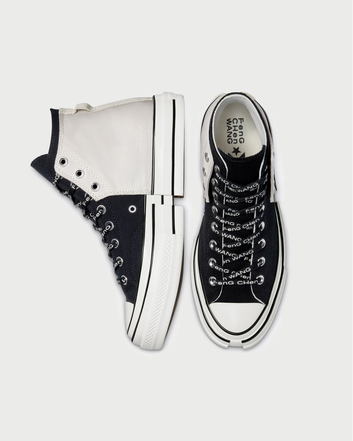 Converse x Feng Chen Wang 2-in-1 Chuck 70 High - Natural Ivory/Black - Image 4