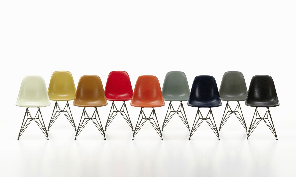 Vitra Brings Back the Iconic Eames Chair in Its Original Material: Fiberglass