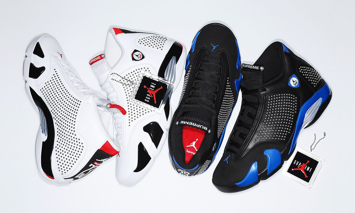 save off 36175 330fd Supreme x Nike Air Jordan 14: When & Where to Buy Today
